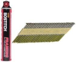 BOSTITCH PT2863FC Hřebíky 2,80x63mm hladké 2200ks+2bombičky do GF33PT-Hřebíky s papírovou páskou do plynové hřebíkovačky GF33PT