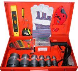Polyfúzní svářečka souprava 750/1500W TUSON POLY01-Svářečka plastových trubek v praktickém kufříku TUSON POLY01 1500W