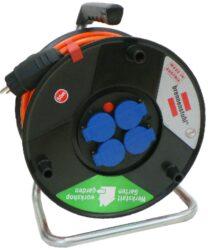 LOBSTER 101188 Kabel 50m na cívce 4zásuvky GUMA 3G1,5mm IP44 Brennenstuhl-Kabel buben 50m 4x230V IP44