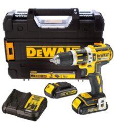 DEWALT DCD795S2-QW Akušroubovák příklepový 18V 1,5Ah Li-ion-Bezuhlíková aku příklepová vrtačka 18V 1.5Ah