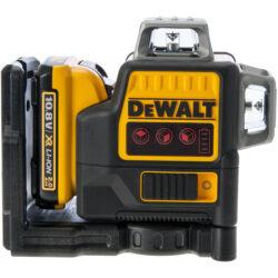 DEWALT DCE089D1R-QW Aku laser linkový 10,8V 1x2,0Ah 3x červený paprsek          -3x paprsek - 2x vertikální a 1x horizontální