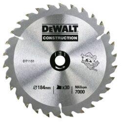 DEWALT DT1151-QZ Pilový kotouč 184x16 30z-Pilový kotouč 184 x 16 mm, 30 zubů