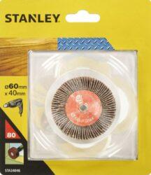 STANLEY STA34051 Lamelové brusné tělísko do vrtačky D80x20mm S6mm P80           -Lamelové brusné tělísko do vrtačky D80x20mm S6mm P80
