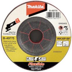 MAKITA B-49775 Kotouč brusný na nerez FLEXI 115x4x22 WA36P-BF                   -Kotouč brusný pružný na nerez FLEXI 115x4x22