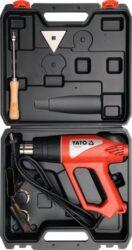 YATO YT-82292 Pistole horkovzdušná 2000W kufr-Pistole horkovzdušná 2000W s příslušenstvím v kufru