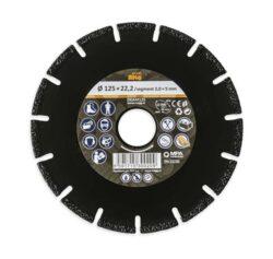 MAGG DKAM125 Univerzální diamantový kotouč 125mm (kámen/kov/plast/dřevo)-Univerzální diamantový kotouč 125mm (kámen/kov/plast/dřevo)