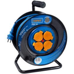 NAREX 65404962 Kabel 50m na cívce 4zásuvky IP44 3x1,5mm guma PBN50-Kabel 50m na cívce 4zásuvky IP44 3x1,5mm guma PBN50