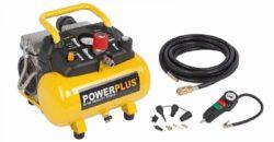 POWER PLUS POWX1724S Kompresor bezolejový 6L 550W 8bar s příslušenstvím-Kompresor bezolejový 6L 550W 8bar s příslušenstvím