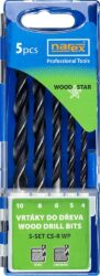 NAREX 65405605 Sada vrtáků do dřeva 4-10mm Carbon (5ks) 5-SET CS-R WP-Sada vrtáků do dřeva 4-10mm Carbon (5ks)