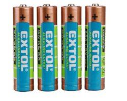 Baterie tužková AAA 1,5V (4ks/bal.) LR03/4 EXTOL 42010